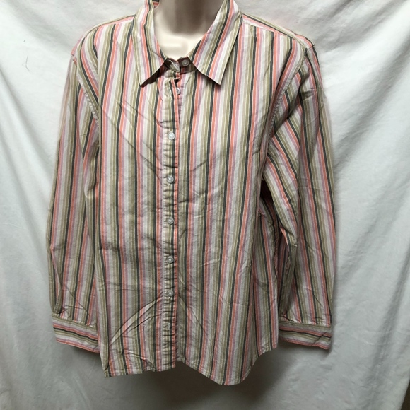 53b24852ba583 Orvis Womens Sz 16 Striped Button Up Shirt Blouse.  M 5ae20ff4caab44ef475470dd